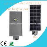 10W éclairage LED solaire tout dans un réverbère solaire de DEL