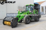 China Mulcher com o carregador Wl200 do lobo 2t
