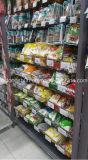 메시 감금소를 가진 슈퍼마켓 선반
