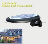 Venta caliente de la yarda de la lámpara del poste de Lihting del sensor solar de la luz solar Victorian de la pared