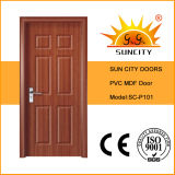 Top Design Bedroom MDF Doors, Toilet PVC Doos (SC-P101)