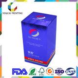 Caja de embalaje del papel delicado del color, fábrica 100%