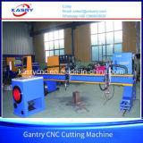 Máquina de estaca resistente da flama do plasma do CNC do pórtico para a placa de metal e o Kr-Xgb redondo da tubulação
