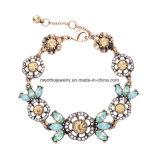 Braccialetto a cristallo Diamante-Fissato stile di prima scelta del fiore dei monili di modo retro