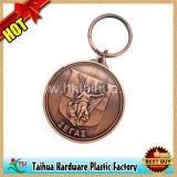 Metal del cobre plateado recuerdos llaveros (TH-mkc012)