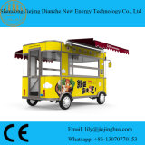 Double chariot d'aliments frais de logement pour les petits fournisseurs avec certificats CE