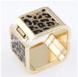 La moda de verano joyas chapado en Material de aleación de zinc con oro Acyrlic cuadrado amarillo Pulsera Ecológico (PB-095)