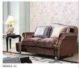 Sofà di legno classico del tessuto per il salone