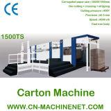 Zj-1500ts Tipo de alimentador Máquina automática de fabricação de papelão