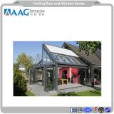 50 sistemas de aluminio anodizado y pintura en polvo de la puerta y ventana fija en el patio o jardín casa