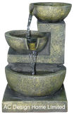 Moos-grüne Farbe Polyresin Innenhauptlicht des dekor-Tisch-Oberseite-Wasser-Brunnen-W/LED