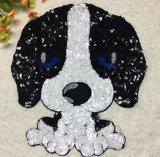 Cachorro de Bulldog francés lentejuelas Chaqueta Patchwork Parches parches parche para el vestido bordado adhesivos Biker Badge
