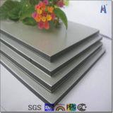 4mm 0,5mm Revestimento de PVDF Shinning Painel Composto de alumínio prateado