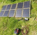 100W陸軍省無線で使用される大きい力のモバイル機器のFoldable太陽エネルギーの充電器袋