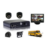 Autocarro escolar DVR móvel -- 4canais D1 Mini SD 3G + WiFi+GPS+G-Force