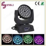 LED 36PCS 4in1の移動ヘッド洗浄ズームレンズの段階の照明