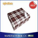 Portable manta Heated eléctrica del paño grueso y suave cómodo del temporizador de 12 horas