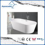 Banheiro quadrado de acrílico com banheiro quadrado (AB1514W)