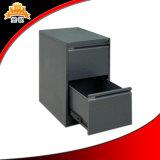 Novo gabinete de aço de cabeceira de design com duas gavetas