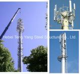 GSM Toren van het Staal van de Telecommunicatie van de Toren van de Antenne Monopole