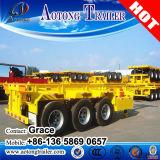 판매를 위한 콘테이너 수송 2 차축 또는 3개의 차축 해골 골격 반 트레일러, 20feet 40feet 해골 트레일러