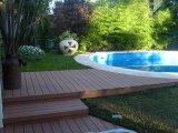 Assoalho composto plástico de madeira do Decking oco de Newinsight WPC para o revestimento ao ar livre