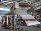2400mm 새로운 서류상 공장 6-8tpd를 위한 가득 차있는 자동적인 고속 화장지 기계
