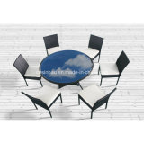 Плетеная обеденный стол для использования вне помещений, для использования внутри помещений с 6 стульями / SGS (6214)