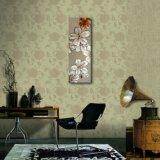 Fleur décorative sur la peinture d'huile