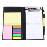 Escribiendo bloc de notas con carpeta de clip para regalo de negocios (PN247)