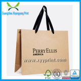 Personalizzato Brown Kraft Paper shopping bag con logo stampa Gift Bag