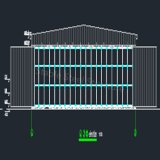 Structure en acier Hangar Warehouse Building with Best Design