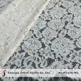 Tela de nylon do laço do vestido da pestana do algodão (M2178-MG)