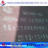 Placa de acero plateada de metal en buena calidad