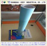 신제품 1.22*50m 기포 높은 스티커를 가진 파란 광택이 없는 색깔 비닐