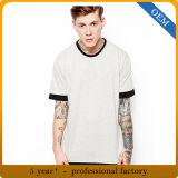 Les hommes d'OEM raffinent les T-shirts courts surdimensionnés blanc de chemise