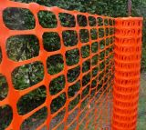 주황색 플라스틱 안전 담 또는 경고 방벽 담