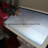 Assoalho de 42 polegadas que está o indicador cheio do quiosque da tela de toque de HD