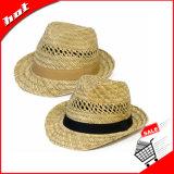 빈 밀짚 자연적인 밀짚 중절모 모자