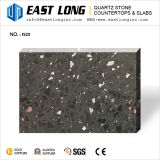 Surface de pétillement noire de pierre de quartz de miroir avec des aperçus gratuits