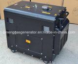 Tipo silencioso portátil gerador do diesel de 3kVA 5kVA