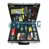 Kits d'utilitaires de épissure de épissure de la boîte à outils FTTX de kits d'utilitaires de produit de fibre optique