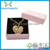Rectángulo de empaquetado del regalo de papel de lujo de la joyería para el collar del anillo