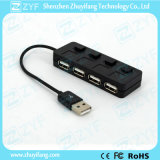 Interruptores independientes 4 puertos USB Hub 2.0 (ZYF4207)