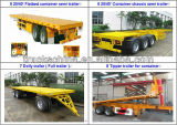 Cimc 3ejes contenedor de 70 toneladas semirremolque Camión de remolque