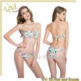 Reizvolle Mädchen-Blumen-Badeanzüge hoher Waisted Bikini