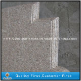 Cucina della pietra del granito di colore giallo della ruggine G682/contro parti superiori poco costose personalizzate