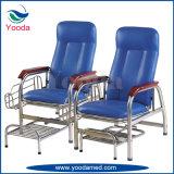 Hospital de acero inoxidable PVC Silla de cuero de Transfusión