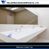 Dispersore di superficie solido esclusivo della stanza da bagno dell'europeo moderno, serie del lavabo