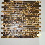 Telha de cristal do vidro do mosaico do bom espelho do ouro da venda